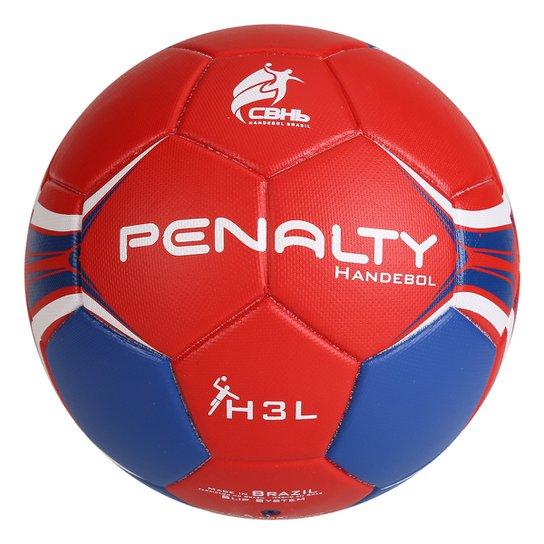 Bola Penalty Handebol H3L Ultra Fusion VII - Vermelho+Azul
