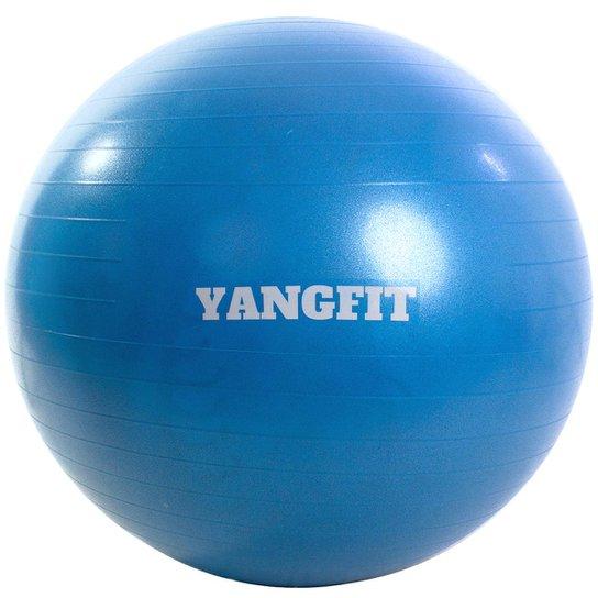 Bola Pilates Suíça Exercícios Yoga 65cm Com Bomba Yangfit - Azul