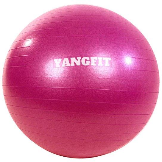Bola Pilates Suíça Exercícios Yoga 65cm Com Bomba Yangfit - Rosa
