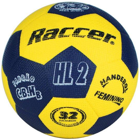 Bola Raccer Handebol HL2 - Amarelo+Marinho