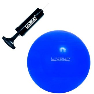 Bola Suíça 65 CM LIVEUP para Pilates + Bomba Manual
