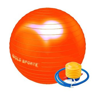 Bola Suiça Gold Sports Pilates 55cm com Bomba