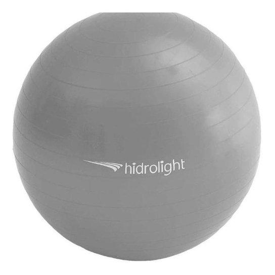 Bola Suíça Gym Premium 75 Cm - Com Bomba - Hidrolight - Cinza