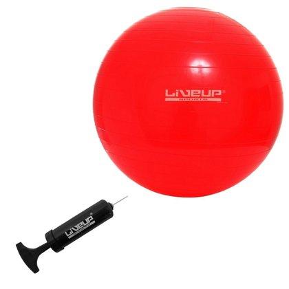 Bola Suíça Liveup LS3221 45 PR para Pilates 45 CM Premium Vermelha