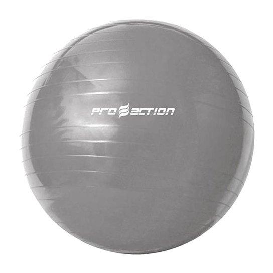 Bola Suiça para Ginástica Proaction com bomba  65cm - Cinza