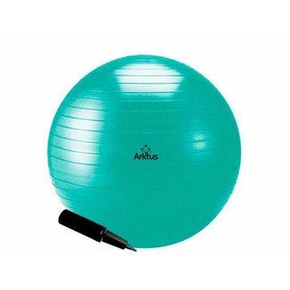 Bola Suíça para Pilates com Bomba de Ar - Anti-Burst - Arktus - Verde 55cm