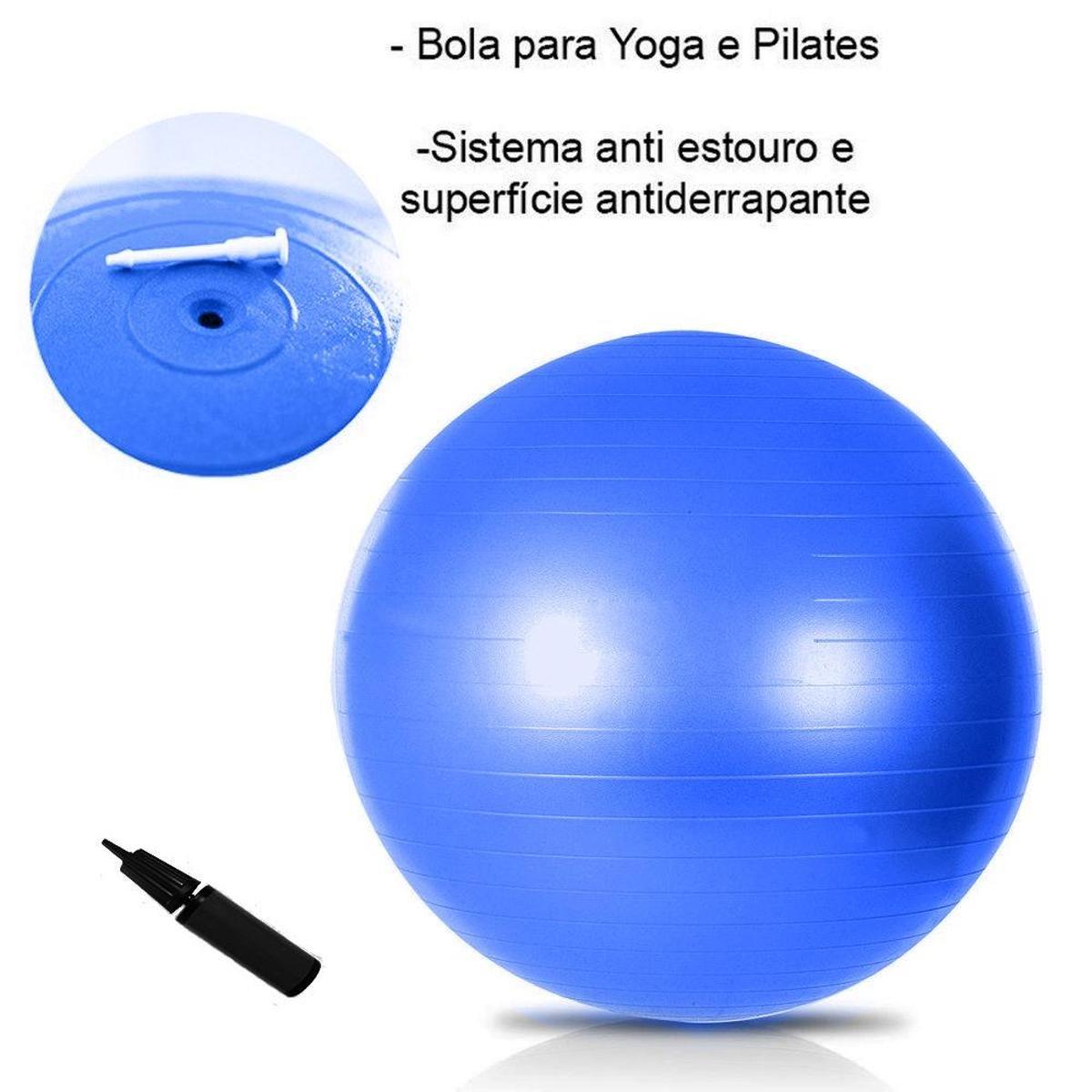 ... Bola Suíça Pilates 65 cm GymBall Ginástica Natural Fitness ... 5eeb1b691432b