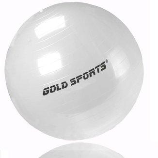 Bola Suiça Pilates Yoga 65cm Som Bomba de Encher Gold Sports Pro