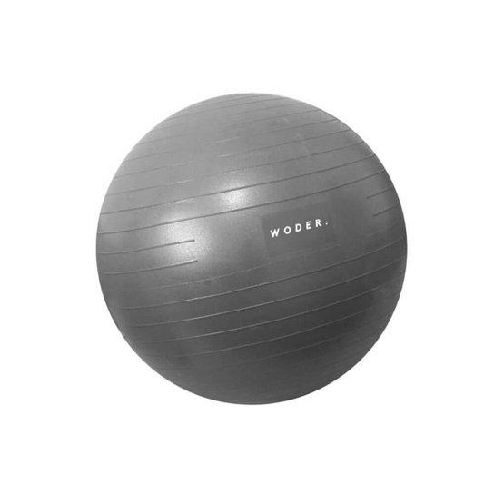 Bola Suiça Pilates Yoga Abdominal Ball 75cm Com Bomba Woder - Cinza