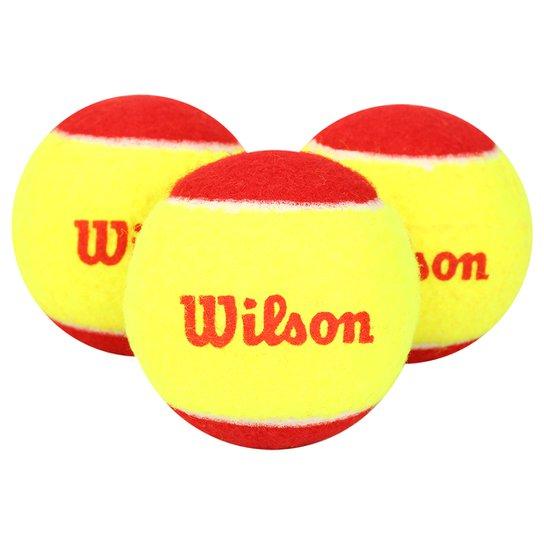 Bola Tenis Wilson Starter (Pk3) - Amarelo+Vermelho