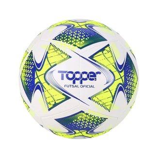 Bola Topper 22 Futsal - Branco, Amarelo E Azul