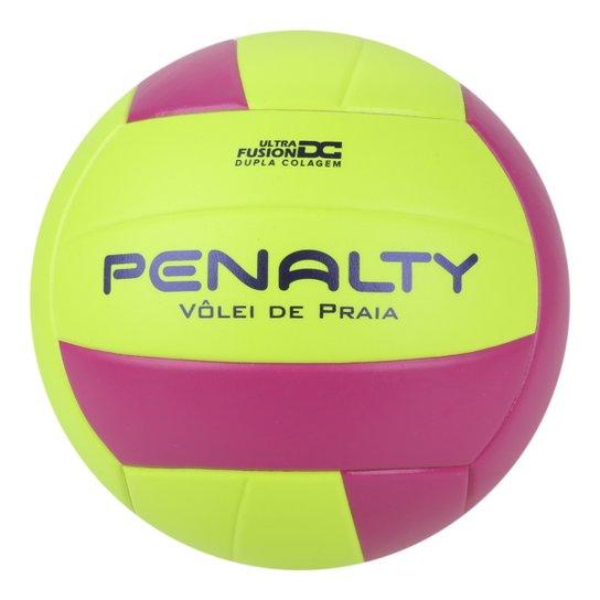 Bola Vôlei de Praia Penalty X - Amarelo+Rosa