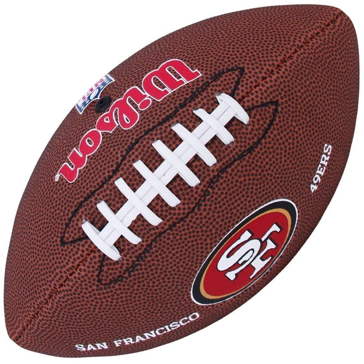 Bola Wilson Futebol Americano NFL San Francisco 49ers - Marrom ... 645062e84b1b6