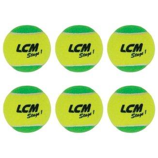 Bolas De Tênis Lcm Stage 1 Com 6 Unidades