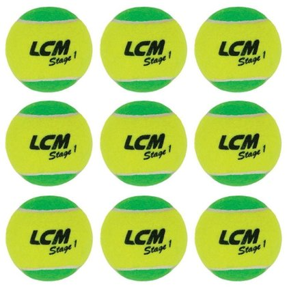 Bolas De Tênis Lcm Stage 1 Com 9 Unidades