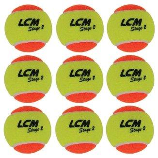 Bolas De Tênis Lcm Stage 2 Com 9 Unidades