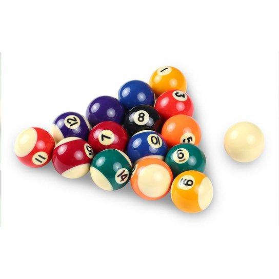 Bolas Gold Sports Snooker Sinuca 16 Bolas 52mm Numeradas - Preto