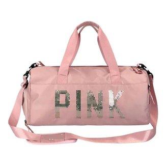 Bolsa Academia Feminina Pink Fitness Treino Prova D'agua Pink