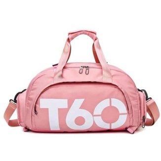 Bolsa De Academia Mala de Viagem Impermeável Pink T60