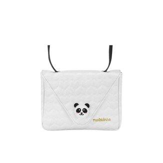 Bolsa Infantil Matelassê Panda Molekinha - BRANCO - U