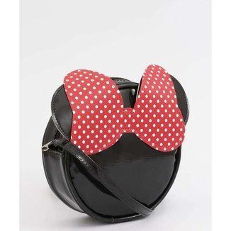 Bolsa Infantil Transversal Verniz Minnie Disney - 10045579585
