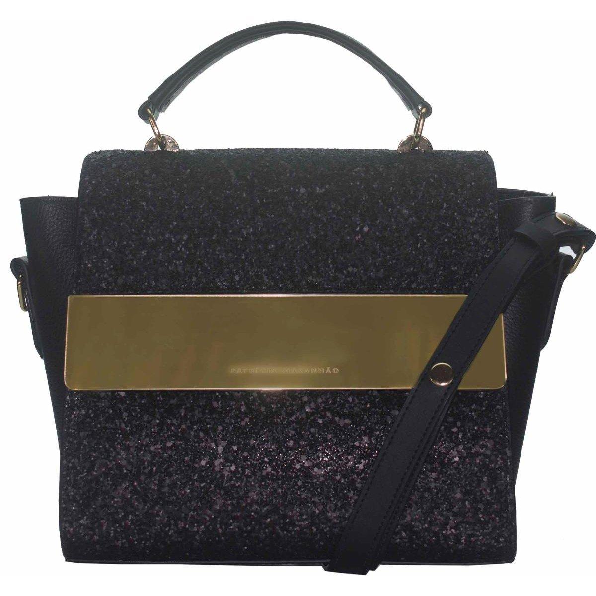 5dfe2d82d Bolsa Londres Glitter em Couro Patricia Maranhão Feminina - Compre Agora