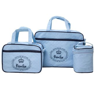 Bolsa Maternidade Bebê Menino Kit com 3 World Baby