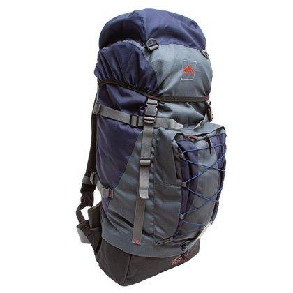Bolsa Mochila Cargueira/Camping Trilhas e Rumos Crampon 60 Litros Azul Marinho