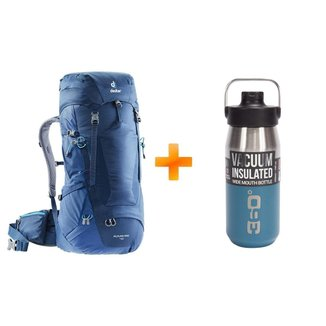 Bolsa Mochila Futura Pro 40 2018 Azul - Deuter + Garrafa Sea To Summit 360º DEGREES 550ml Azul