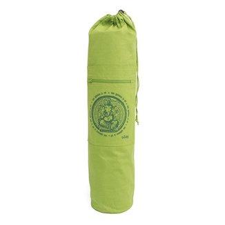 Bolsa para Tapete de Yoga Porta Mat Estampado Ganesha  100% algodão, com bolsos e  alça ajustável
