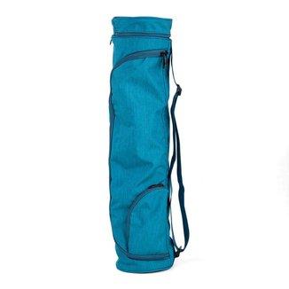 Bolsa porta bicicleta aro 29 mat impermeável asana premium, estampada, bolso externo e alça regulável