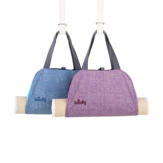 Bolsa porta tapete de yoga namaste 44x28 cm, 4 bolsos com zíper para chaves, celular e carteira