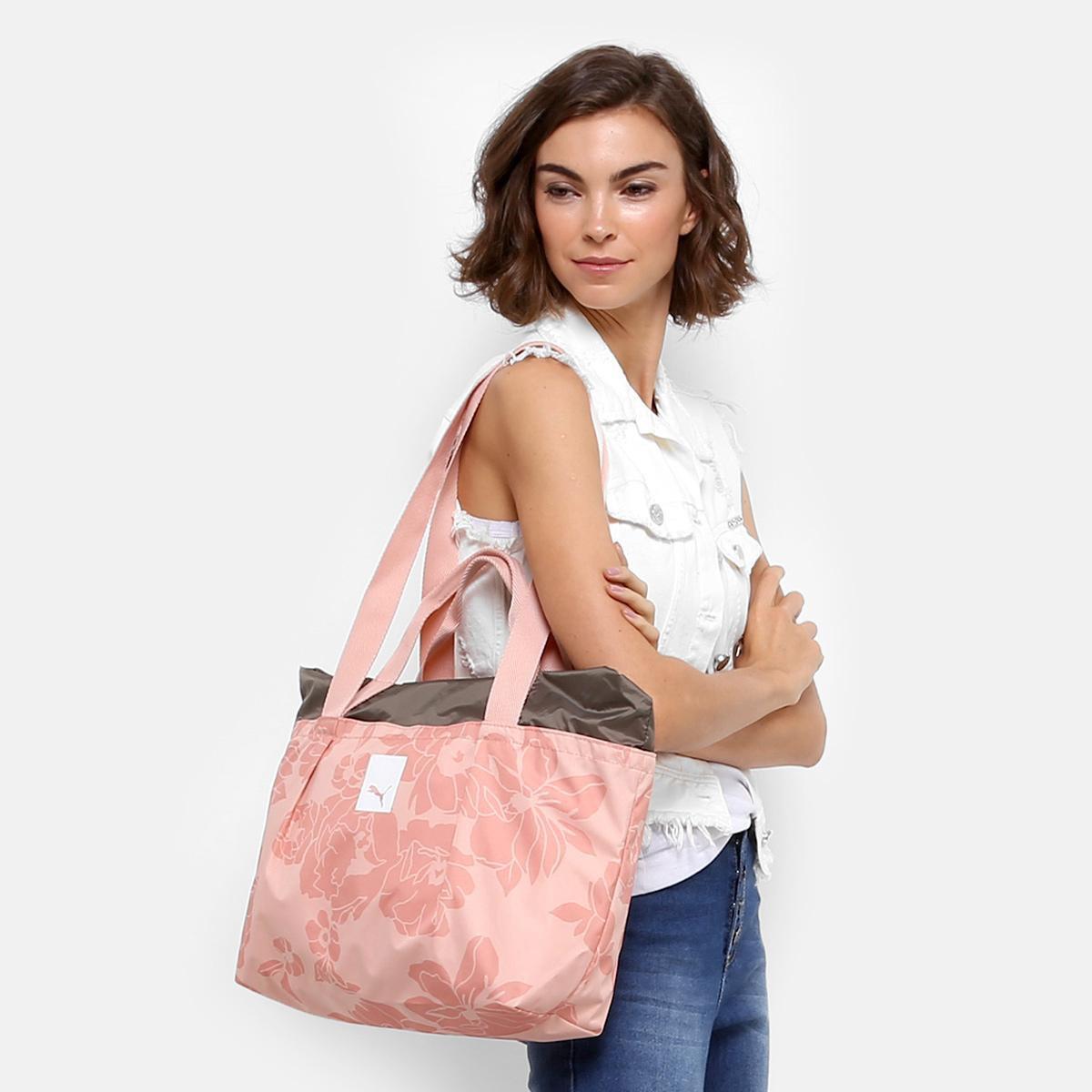 Rosa Shopper Feminina Large Large Shopper Puma Prime Bolsa Prime Puma Bolsa vREHpnwEBq