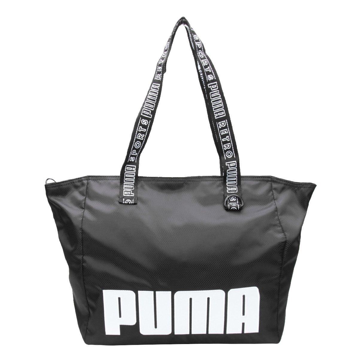 Bolsa Puma Tote Shopper Prime Street Large Feminina - Preto - Compre ... e47dbf36268