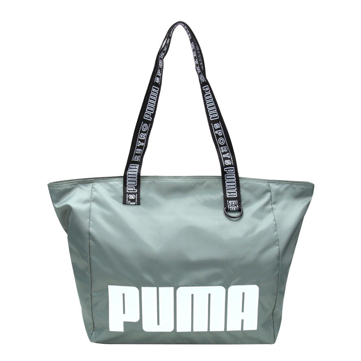 Bolsa Puma Tote Shopper Prime Street Large Feminina - Verde - Compre Agora   7202f8862a8
