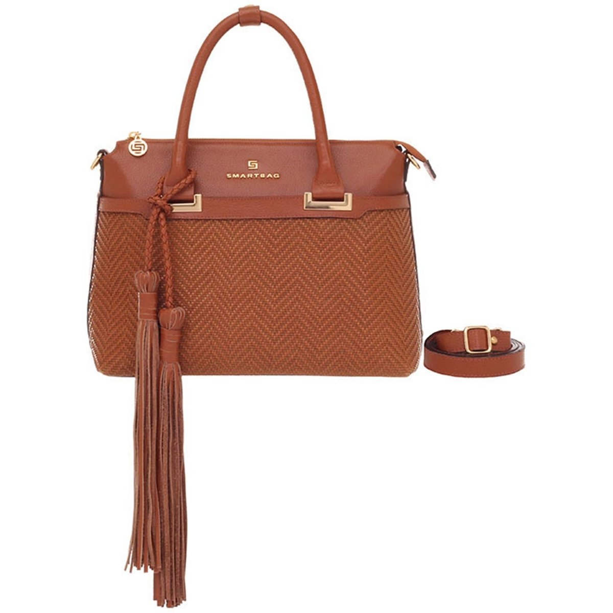 6094c12eb Bolsa Smart Bag Couro Tressê Tribal | Netshoes