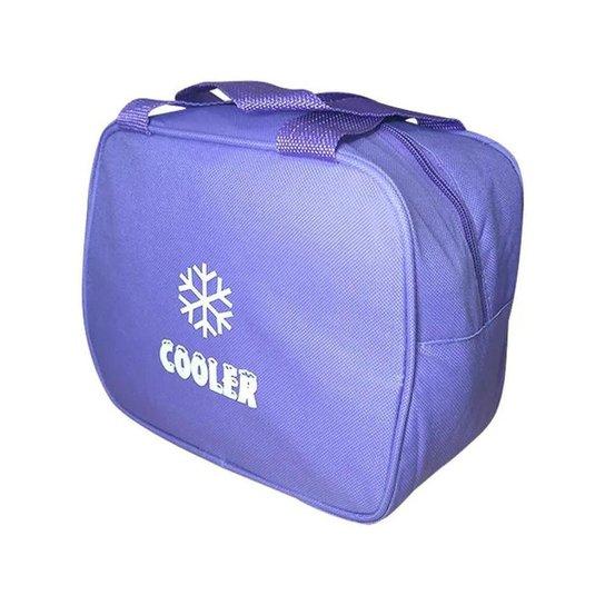 Bolsa Térmica Alça Vertical de Mão Cooler Fitness Lancheira Marmita Necessaire Medicamentos Cosmétic - Lilás