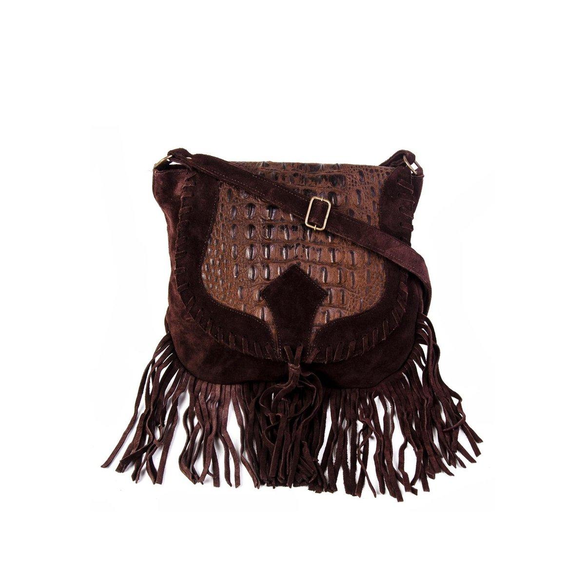 795cd49d2 Bolsa Transversal 100% Couro Franja Modern Feminina - Compre Agora |  Netshoes
