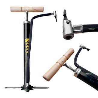 Bomba De Ar P/ Encher Pneu Moto Bicicleta Boia 35cm Oficina WG Sports