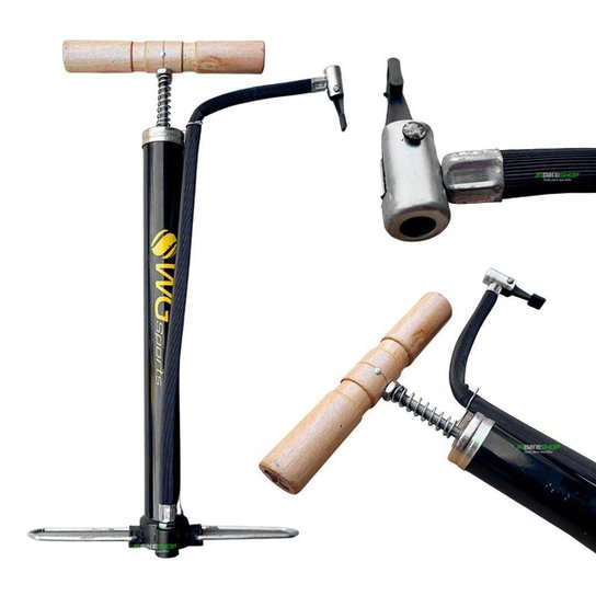Bomba De Ar P/ Encher Pneu Moto Bicicleta Boia 35cm Oficina WG Sports - Sortido