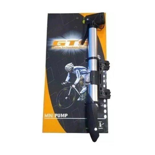 Bomba Gts Ciclismo Aluminio Com Trava Bike Pneu Mtb/speed - Cinza