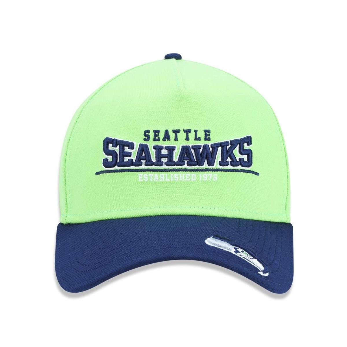 Boné 3930 Seattle Seahawks NFL Aba Curva New Era - Verde - Compre ... 98aa4ebc39e
