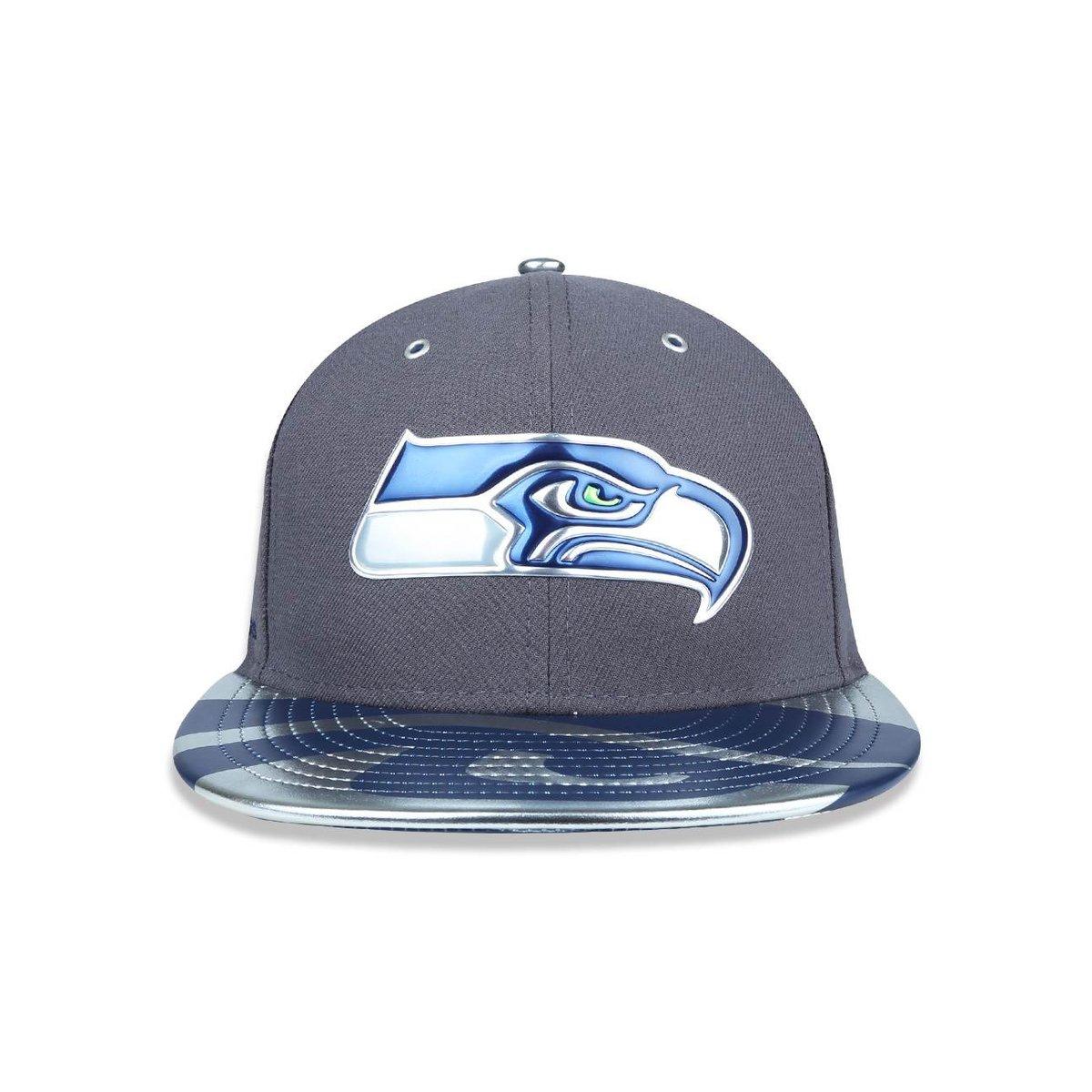 777e6b83dc Boné 5950 Seattle Seahawks NFL Aba Reta New Era - Cinza - Compre ...