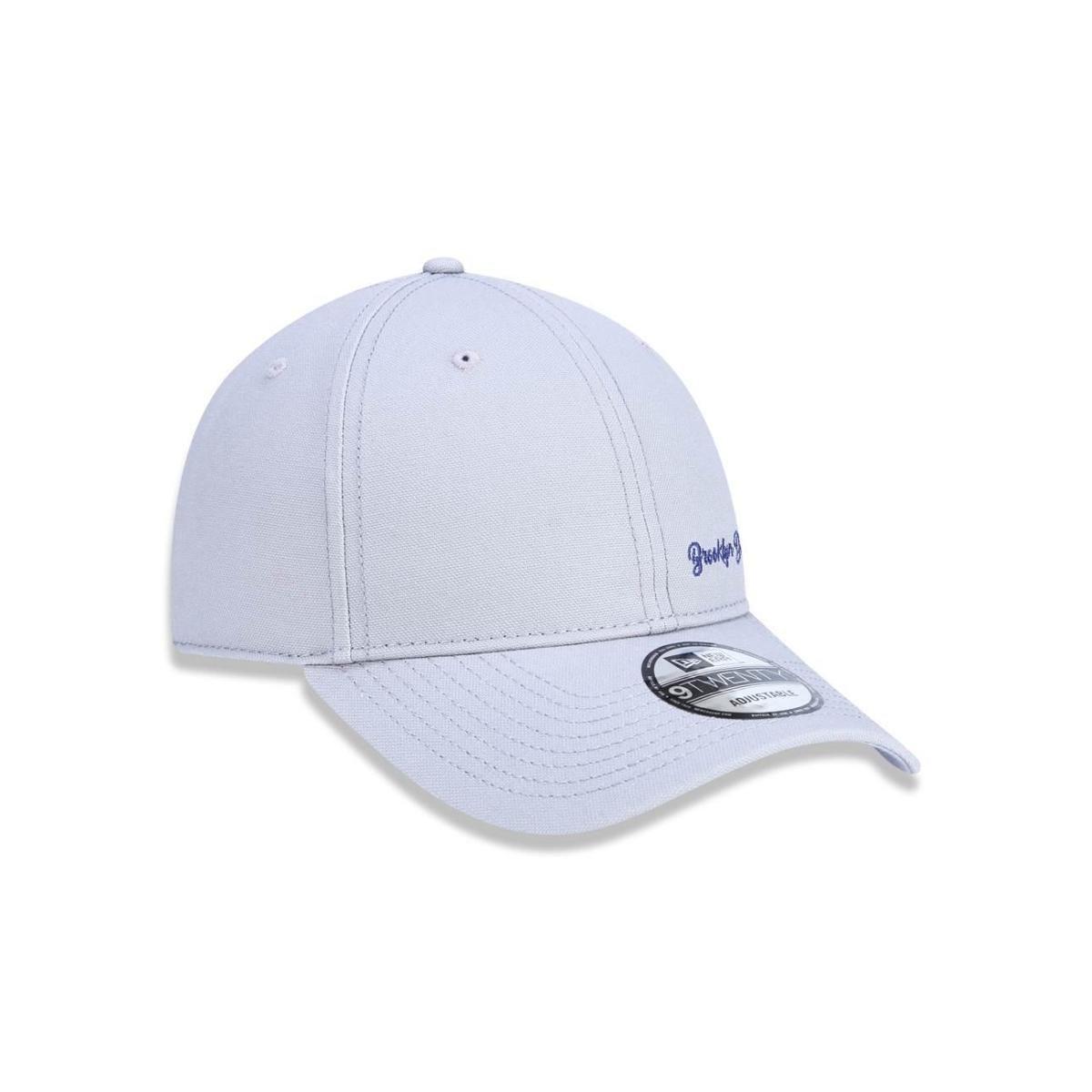 Boné 920 Brooklyn Dodgers MLB Aba Curva Strapback New Era - Cinza ... 0965d85a397
