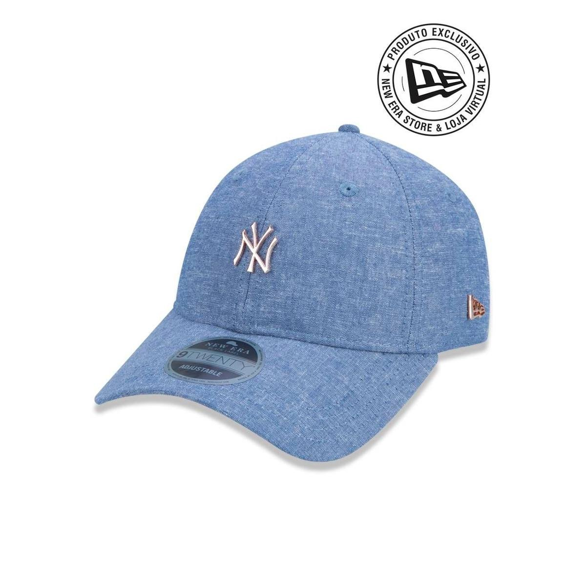 Boné 920 New York Yankees MLB Aba Curva New Era - Azul - Compre ... 263f7d91009f1