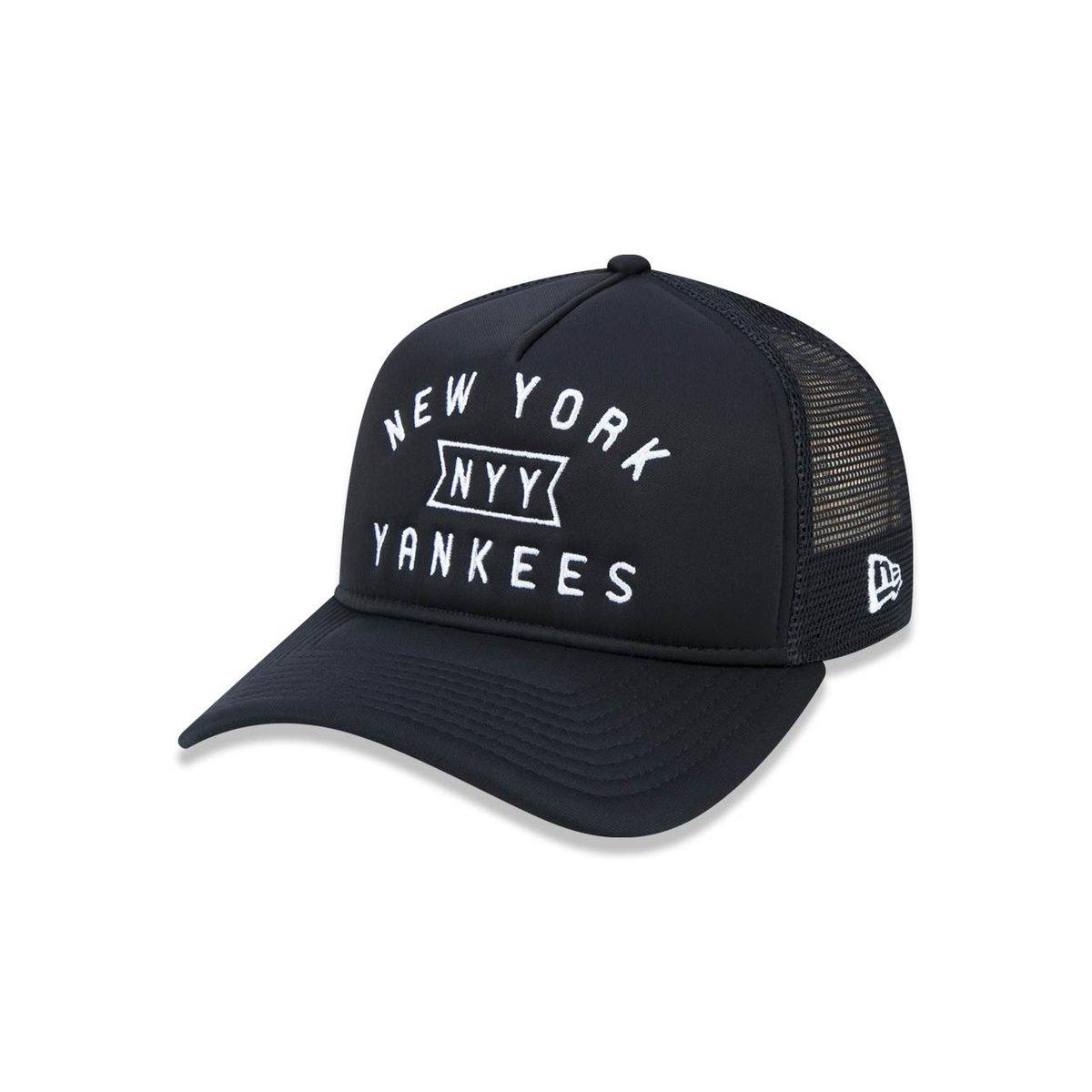 784ba29b31fc8 Boné 940 A-frame New York Yankees MLB Aba Curva New Era - Preto - Compre  Agora