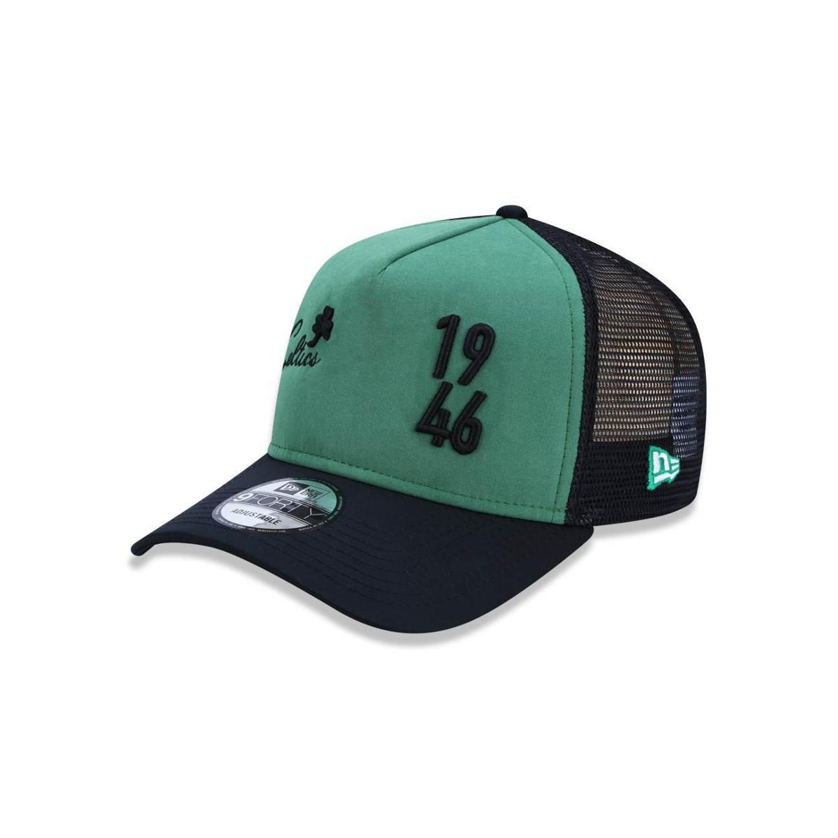 Boné 940 Boston Celtics NBA Aba Reta New Era - Verde e Preto - Compre Agora   db32c245ef6