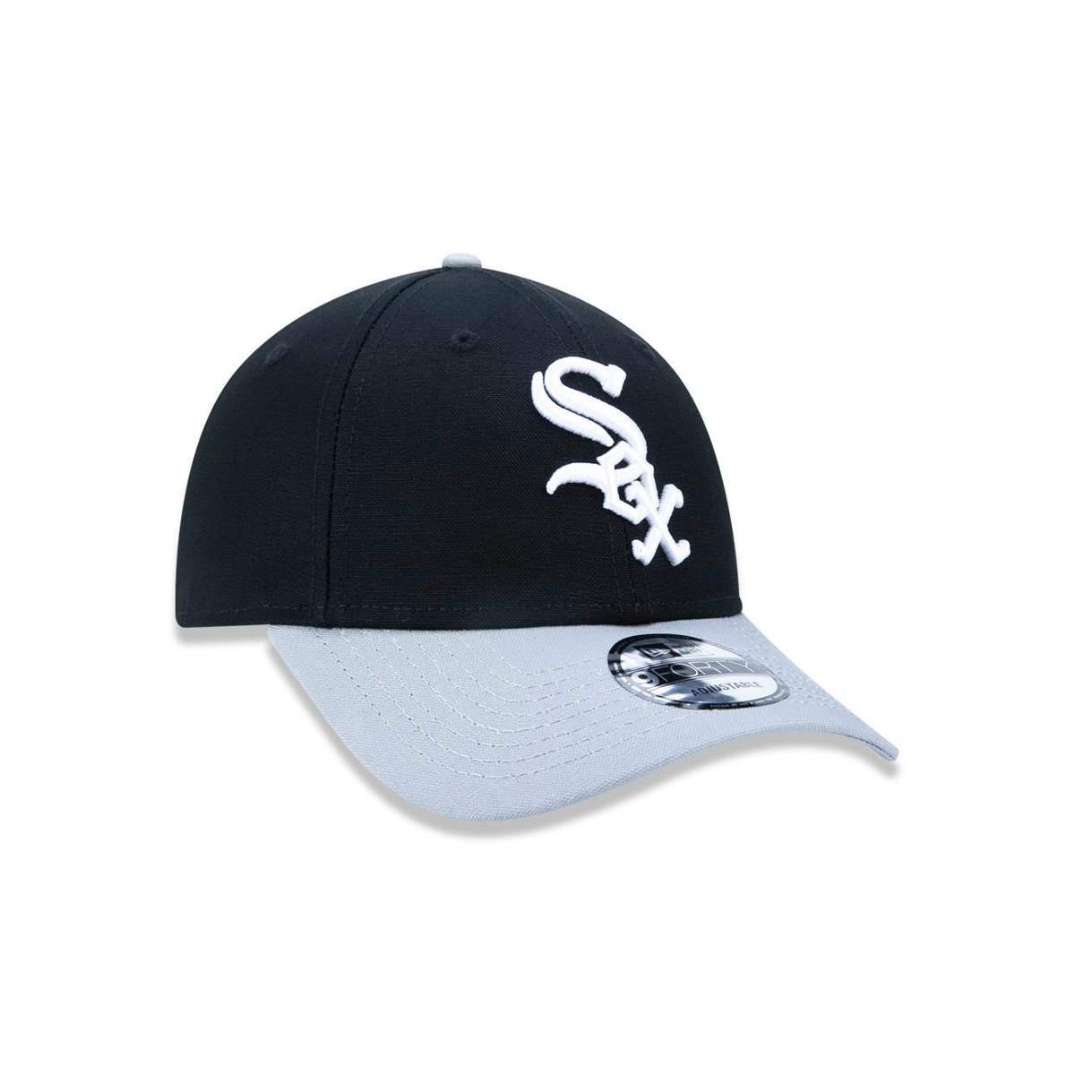 Boné 940 Chicago White Sox MLB Aba Curva Snapback New Era - Preto ... c1a48a91e9a