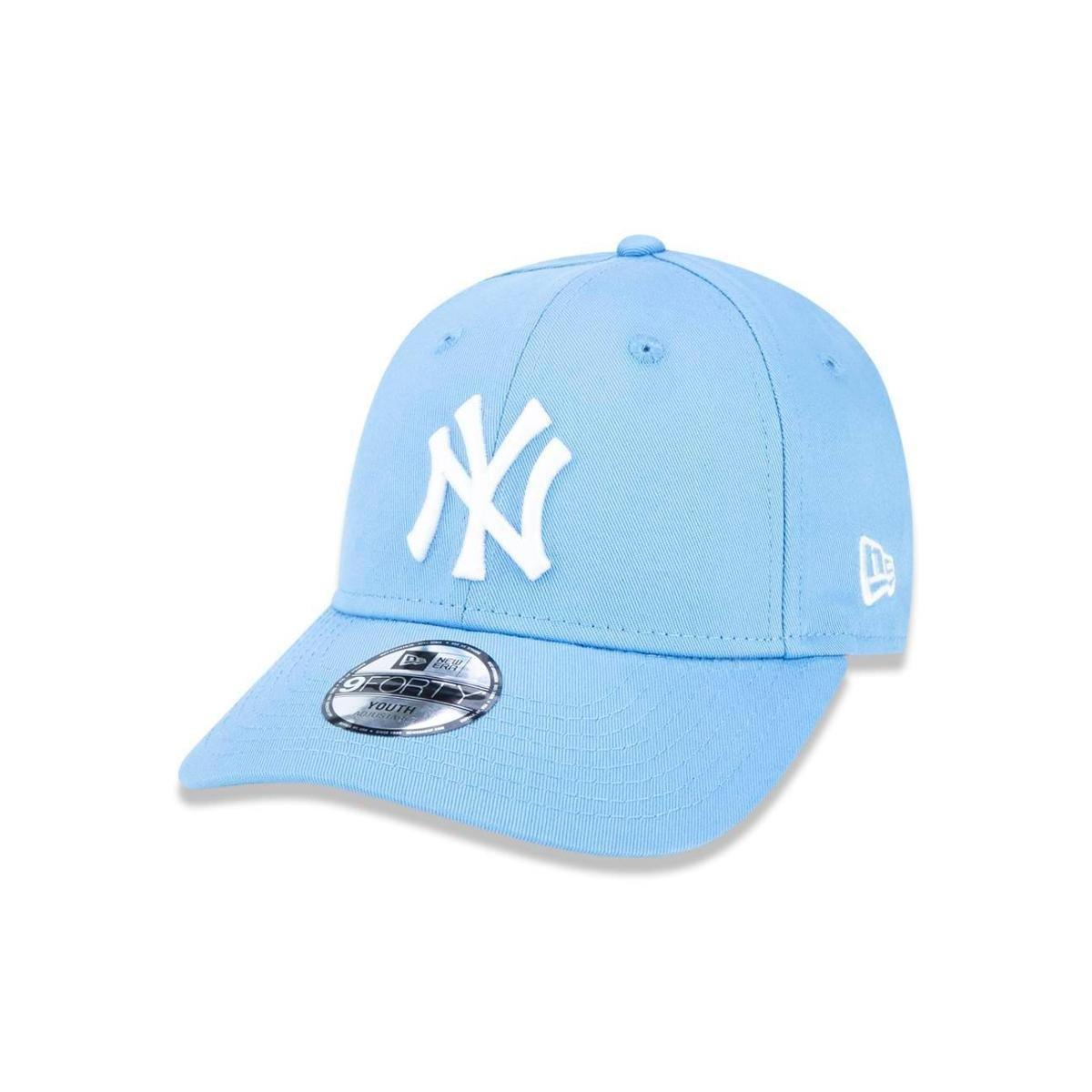 Boné 940 New York Yankees MLB Aba Curva New Era - Azul Claro - Compre Agora   814fe8205e0
