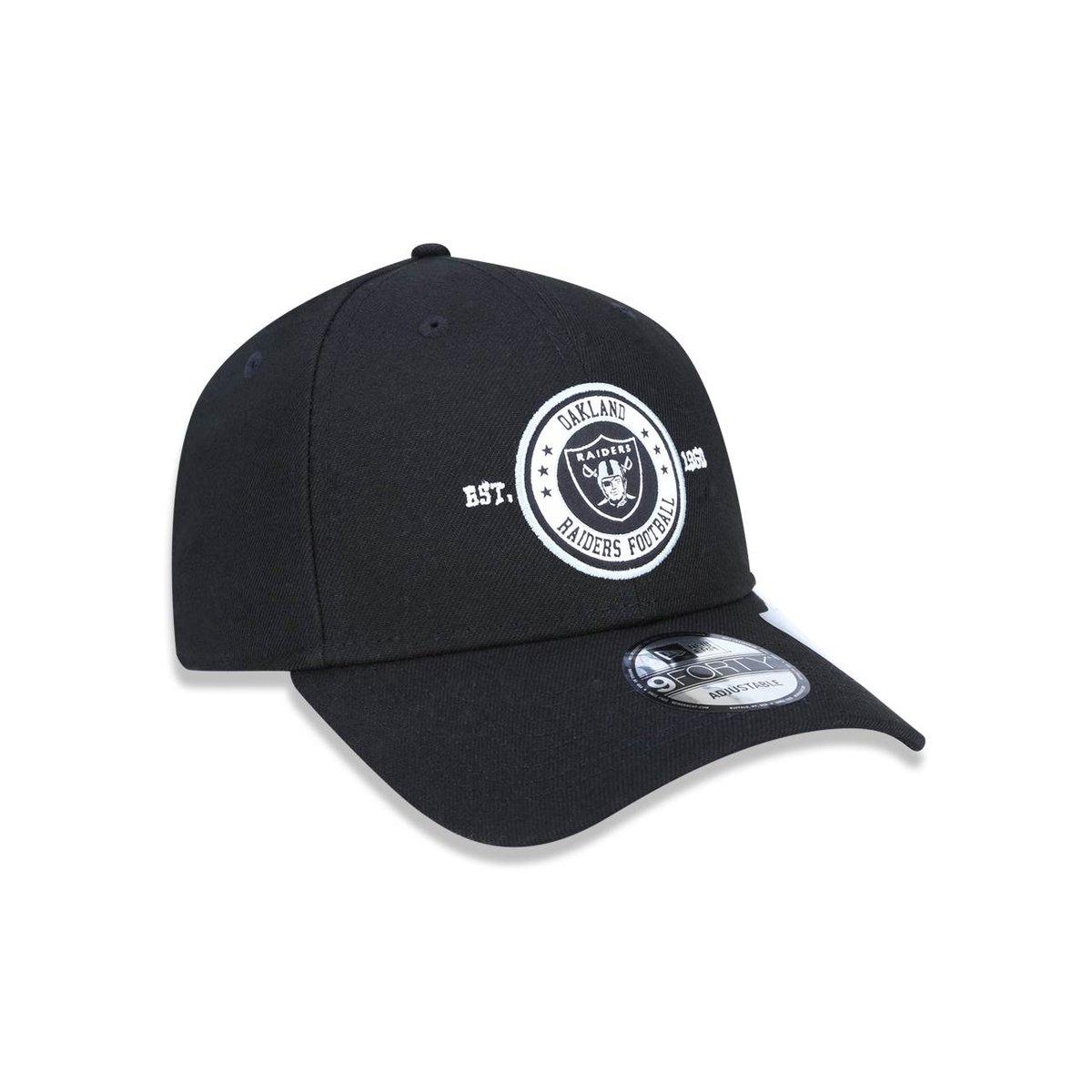28797b169e6ec Boné 940 Oakland Raiders NFL Aba Curva Snapback New Era - Compre ...